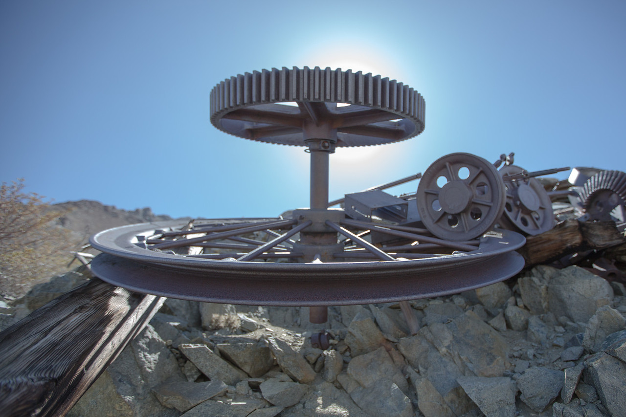 wheels at abandoned Tungstar Mines