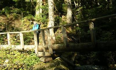 Nice bridge over Barclay Creek.