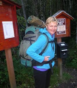 Susan at the trailhead.