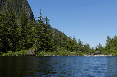 Alpine lakes are cold, this is where that snow melts and collects.