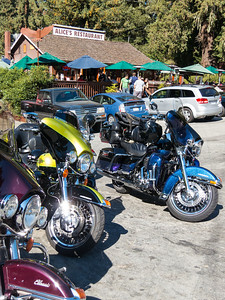 After the hike, drove by Alice's Restaurant with the usual dozens of motorcycles out front.