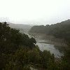 Stevens Creek Reservoir in the rain ( its still kinda low )