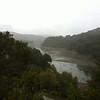 Stevens Creek Reservoir in the rain ( its still kinda low )