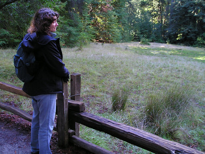 Linda gazes out upon the site of what once was a swimming pool for tourists in the early part of the 20th century.