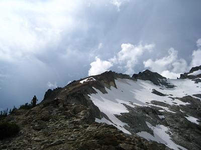 SE Ridge of Daniel. The route.
