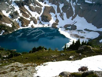 Scott above Circle Lake.