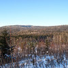 Mount Martha summit ridge.  The old Black Brook Trail sort of parallels the stream valley and climbs up to the shallow saddle