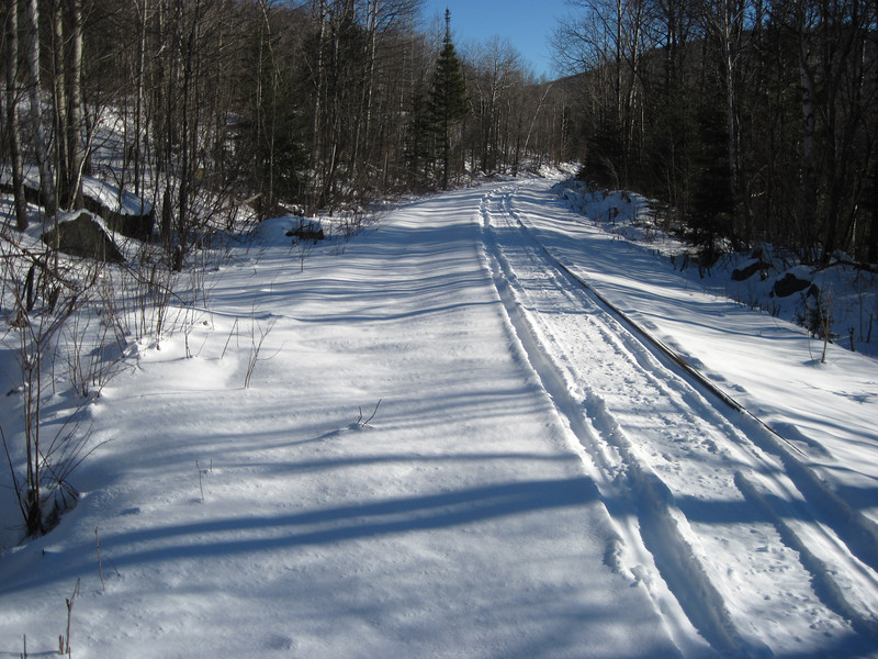 RR bed crossed by the Black Brook Trail/logging road