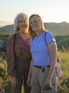 At the summit, Karin and leader Denny.