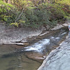 Jason Mundy by the spot where the creek enters the Basin
