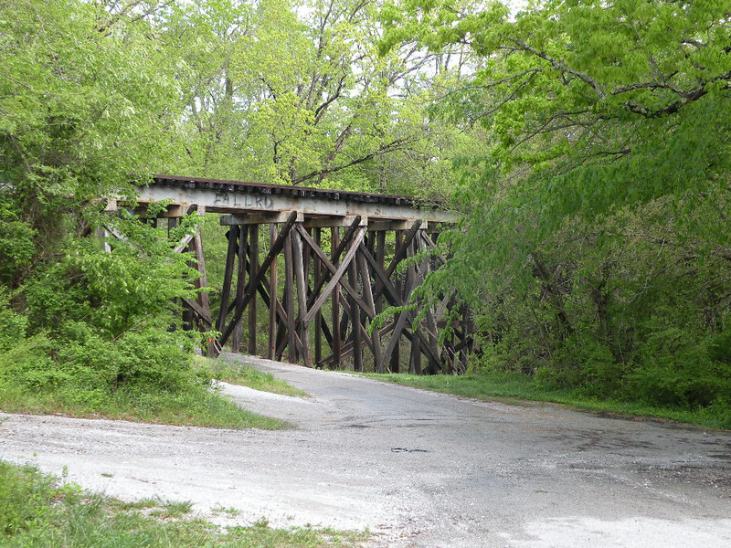 Railroad trestle at Ballard Road across from Ozone Falls