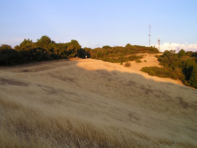 You can see the faster hikers spread out along the trail way ahead, nearing the top.