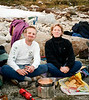Kary and Tony enjoy some dinner in The Enchantments.