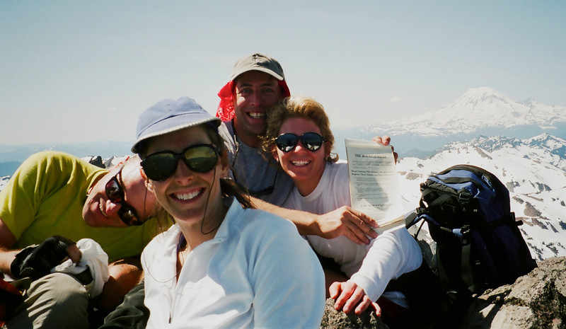 Ken, Monique, Warner and Kary on the summit of Mt Curtis-Gilbert in the Goat Rocks.