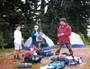 Warner, Kary and the other guy on the Whistling Pig Loop, Glacier Peak area.  Around 1994.