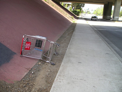 Yet another shopping cart. Alas, I cannot take more than one on my little jaunt. (On my whole trip, I saw more shopping carts than I saw people. On this beautiful sunny day!)