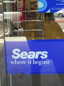 I return the shopping cart to the general environs of Sears, and discover that we can apparently blame Sears for everything.