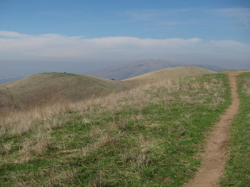 Looking towards Mission Peak, with antennas on top.