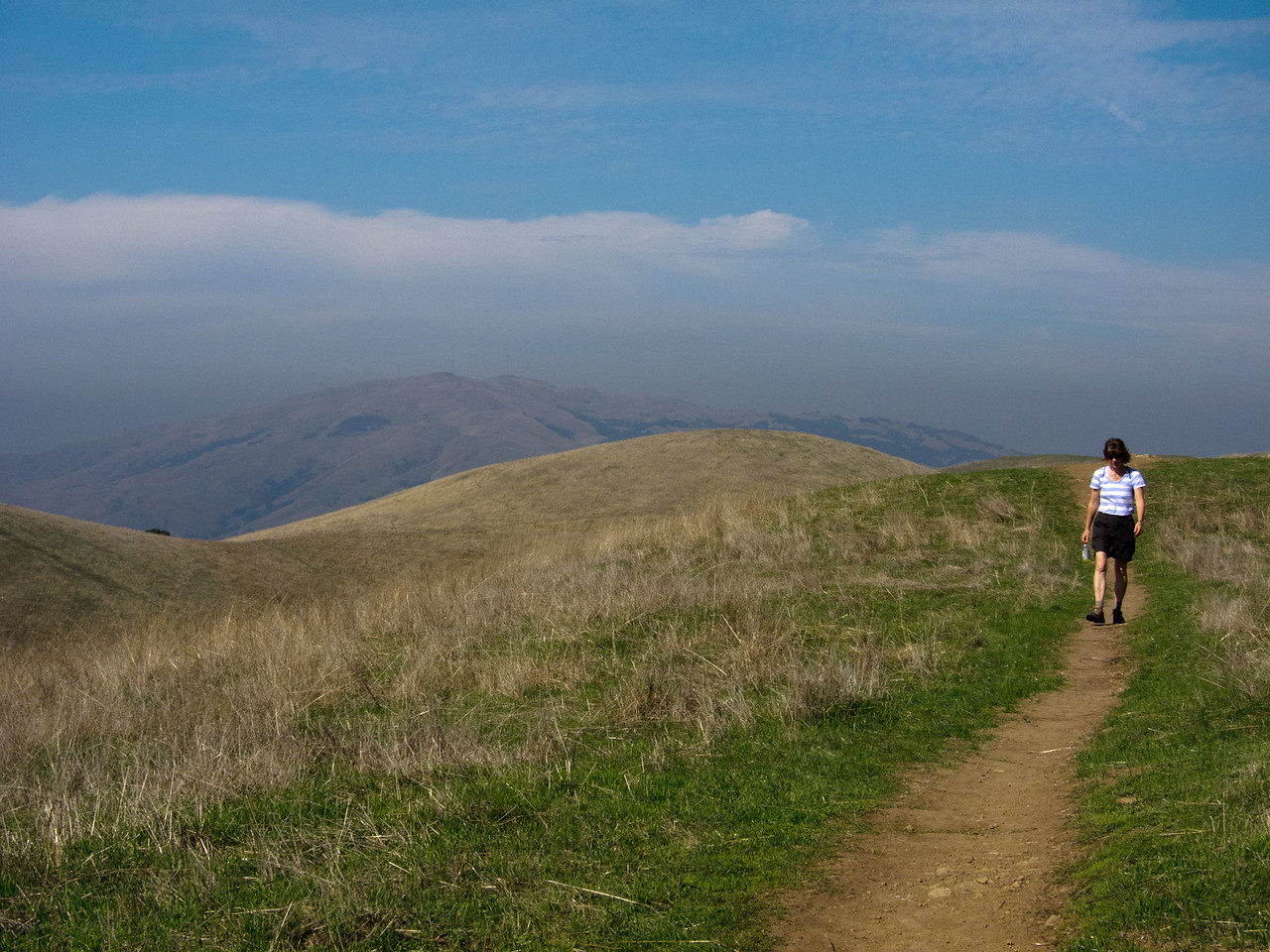 Looking north towards Mission Peak in the distance.