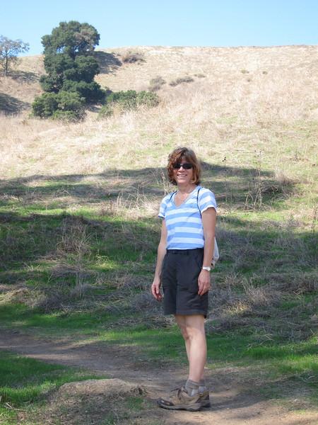 Hiking companion Linda.