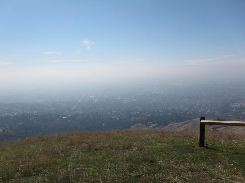 Santa Clara Valley, too bad it was a hazy day.