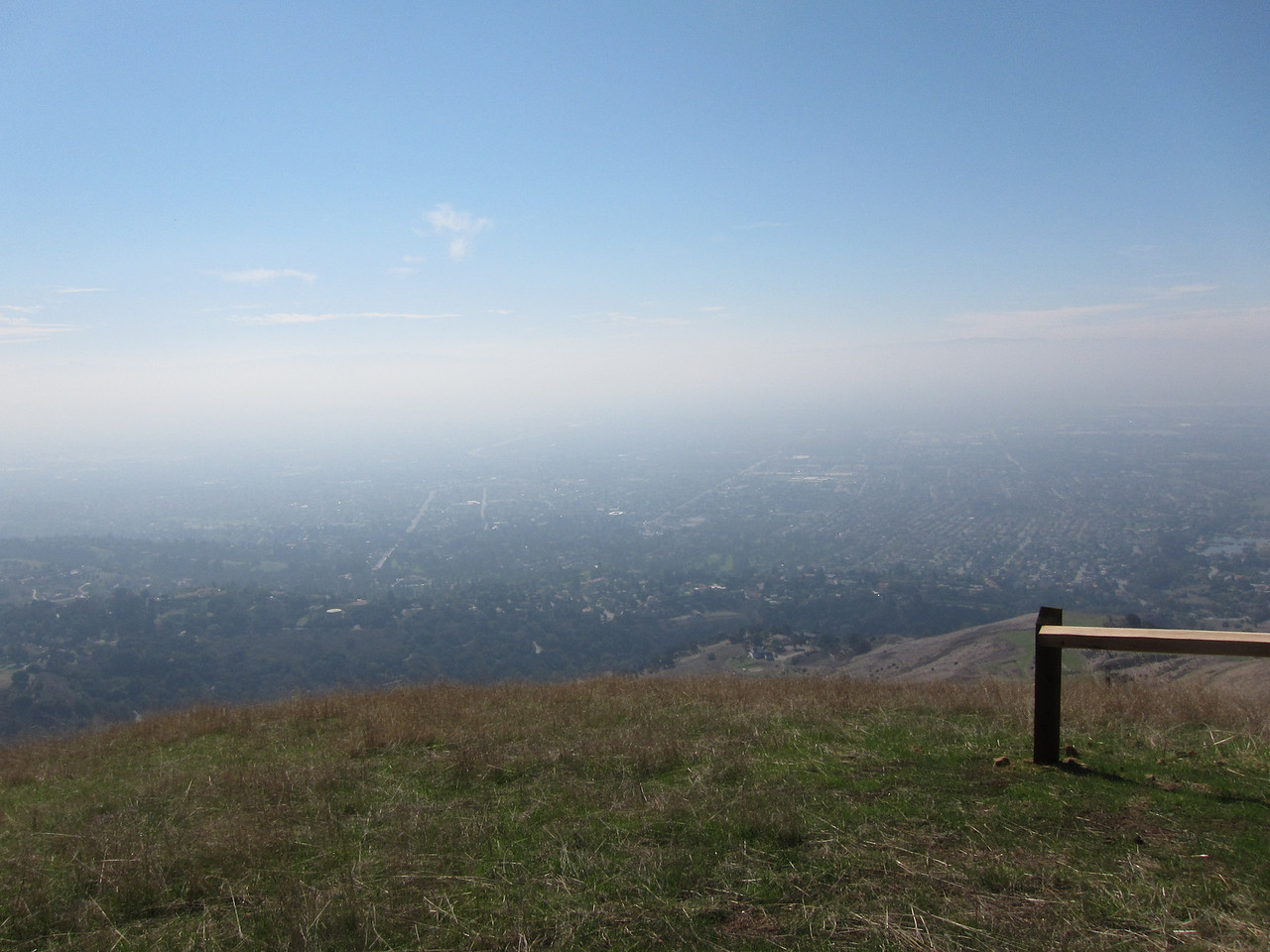 Santa Clara Valley, too bad it was a hazy day.