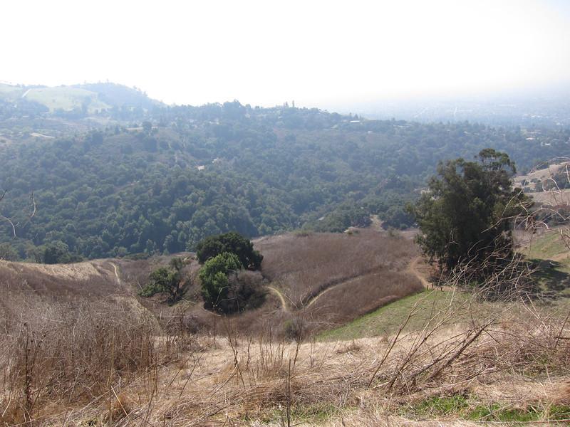 The trail wayyyy below us.