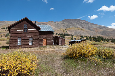 Historic Buildings at Boreas Pass, Boreas Mtn Behind