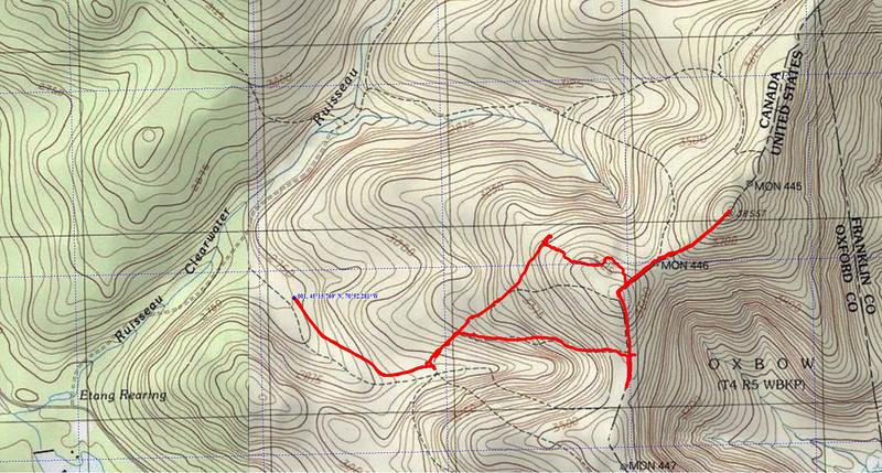 GPS Track Boundary Peak 08062011