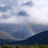 Closer view of the rainbow in the Lairig