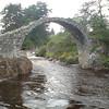 The old packhorse bridge at Coylum Bridge
