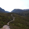 Saturday 21 June, the path up from Whitewell into the Lairig