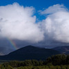 Rainbow over the Lairig Ghru, seen from Rothiemurchus Forest on Friday evening 20 June.  Braeriach is on the far right with snow patches in its corries. According to someone I met the next day, it was snowing and hailing on Braeriach summit at the time