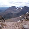 A longer view of Cairn Toul, Lochain Uaine and Sgor an Lochain Uaine from Braeriach