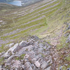 Descending Coire Dhondail: one easy scramble before the path drops down towards Loch Einich