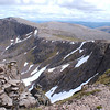 Looking east across An Gharbh Choire towards Sgor an Lochain Uaine (on the left, with Cairn Toul just peeking over its summit)