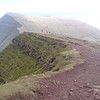 Pen y Fan with Cribbin beyond, seen from Corn Du