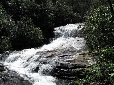 Matthews Creek just above the Raven Cliff Falls