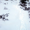 Our trail through the snow