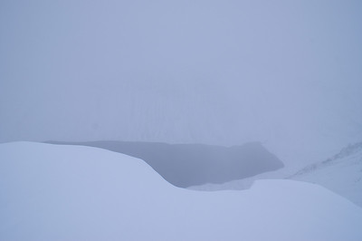 Glimpse of Loch Einich from the summit of Sgor Gaoith, 1118m