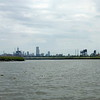Skyline of Manhattan from the Hackensack River.