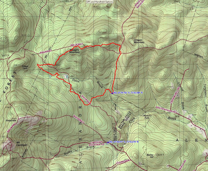 GPS track of our route.  Work area was mainly the northern most top of the trapezoid shaped loop.  GPS indicates this was 5.9 miles RT.