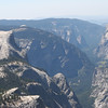 A close up view of Half Dome and Yosemite Valley.