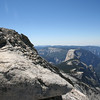Almost to the top and we already have a great view of Half Dome.