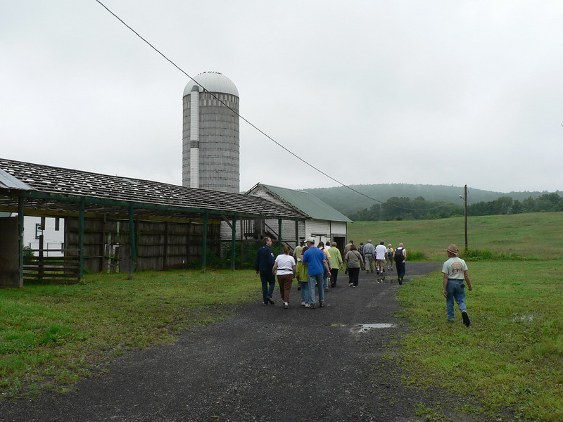 Starting the Colony Farm tour.