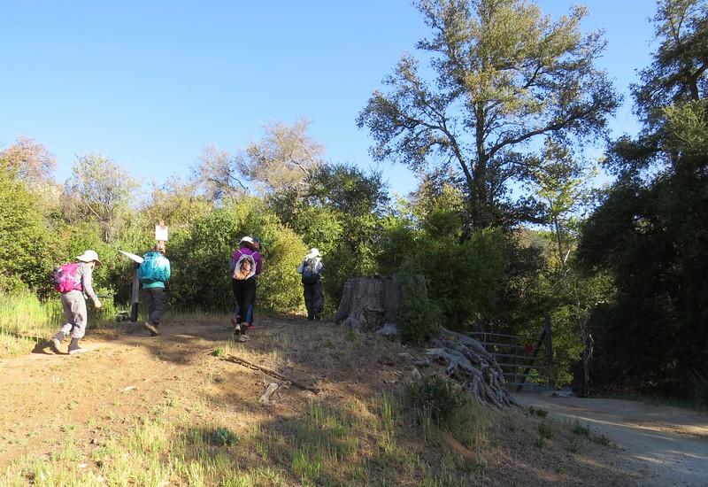 Trailhead on Corral Canyon Road.