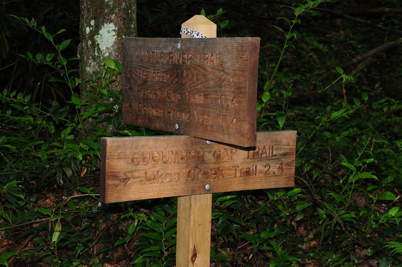 Cucumber Gap Trail at Little River Trail