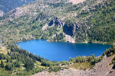 Closeup of Larch Lake. You can get here about 26 miles RT, I think, all on trail.