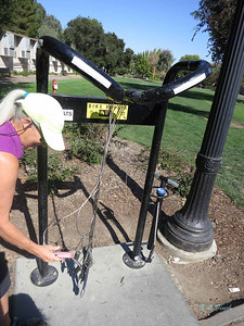 Wow! A bike repair station in the middle of campus! In case your bike breaks down *right there*!