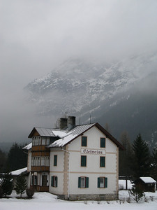 view from Hotel Laurin in Toblach